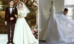 Hé lộ những bức hình hiếm có về quá trình tạo nên chiếc váy cưới của Song Hye Kyo