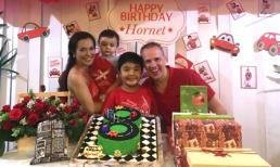 Lý Thanh Thảo tổ chức tiệc sinh nhật ngập sắc đỏ cho con trai đầu