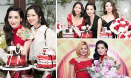 Con gái cưng và sao Việt dự tiệc sinh nhật ngập sắc đỏ của Hoa hậu Giáng My