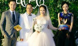 Á hậu Ngọc Quỳnh nổi bật trong đám cưới của ca sĩ Nhật Thủy