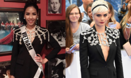Tại HHHV 2017, trang phục được thiết kế dành riêng Cara Delevingne được Nguyễn Thị Loan mượn?