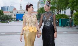 Hoa hậu Diễm Kyly nắm tay Hoa hậu quý bà Thái Lan dạo phố Sài Gòn
