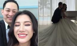 Hé lộ hậu trường chụp ảnh cưới của Trang Trần và ông xã