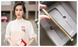 'Nữ hoàng trang sức' Thanh Trúc khoe Iphone X vàng nguyên khối 24K đầu tiên tại Việt Nam