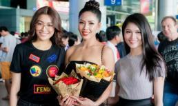 Á hậu Lệ Hằng, Thuỳ Dung ra sân bay đón Nguyễn Thị Loan về nước sau Miss Universe 2017