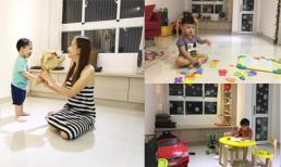 Không gian giản đơn nhưng ấm cúng trong căn hộ của vợ chồng Huỳnh Đông - Ái Châu