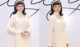 Lý Nhã Kỳ diện áo dài trắng quý phái nổi bật trên thảm đỏ thời trang