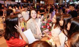 Hoa hậu Ruby Anh Phạm được fans bủa vây, xin ký tặng ảnh khi vừa xuống sân bay