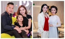 Vợ chồng Jennifer Phạm đưa con gái đi sự kiện, Giáng My trẻ như gái 18