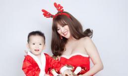 Phi Thanh Vân xinh đẹp bên cạnh quý tử trong bộ ảnh Noel 2017