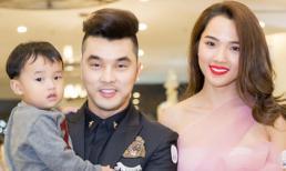 Ưng Hoàng Phúc đưa cả vợ con đến chúc mừng 'bà chủ' Nhật Kim Anh