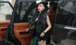 Á hậu Ngọc Quỳnh kiều diễm, ngọt ngào với áo choàng lông vũ
