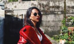 Người mẫu Minh Triệu diện đồ cá tính đi dạo ở Đài Loan