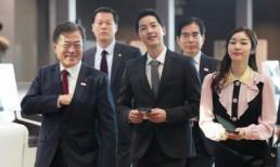 Không kém cạnh bà xã Song Hye Kyo, Song Joong Ki cũng vinh dự được gặp Tổng thống Hàn
