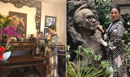 Ca sĩ Lệ Quyên tới thăm nhà cố nhạc sĩ Trịnh Công Sơn