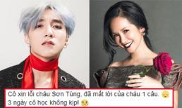 Đẳng cấp Diva nhưng Hồng Nhung vẫn xin lỗi 'cháu' Sơn Tùng vì quên lời bài hát