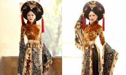 Á hậu Ngọc Quỳnhquý phái với áo dài Nam Phương Hoàng hậu
