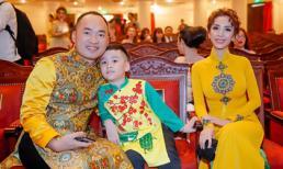 Tiến Luật cùng con trai cưng 'hộ tống' Thu Trang đi nhận giải