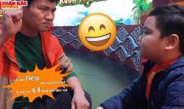 Clip Xuân Bắc hướng dẫn con trai tập thoại trong hậu trường Táo quân 2018