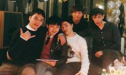 Ảnh hiếm hoi: 5 thành viên Big Bang tụ họp như một gia đình trước ngày G-Dragon nhập ngũ