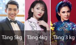 Loạt sao Việt tăng cân vù vù sau Tết Mậu Tuất 2018