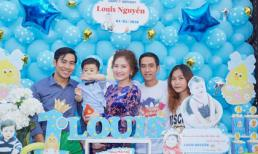 Vợ chồng Ngọc Lan và Thanh Bình tổ chức tiệc sinh nhật hoành tráng cho con trai