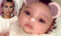 Kim Kardashian lần đầu tiên khoe ảnh cận mặt con gái nhờ phương pháp mang thai hộ