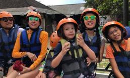 Hồng Nhung và Hà Kiều Anh đưa con đi du lịch ở Indonesia