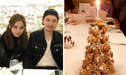 Huỳnh Hiểu Minh đặt bánh sinh nhật mạ vàng, mở tiệc mừng cho vợ ở nhà hàng hạng sang tại Paris