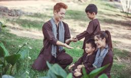 Gia đình Đăng Khôi hóa thân thành nông dân vui chơi một ngày thỏa thích