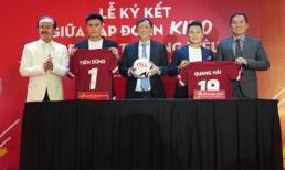 Nguyễn Quang Hải và Bùi Tiến Dũng trở thành Đại sứ Thương hiệu của tập đoàn KIDO