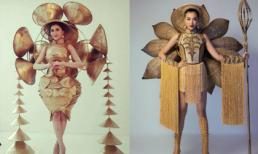 Quốc phục của Thư Dung tại Miss Eco International gây tranh cãi vì giống Quốc phục Lệ Hằng từng mặc