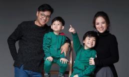 Vợ chồng Đan Lê - Khải Anh hạnh phúc bên hai con