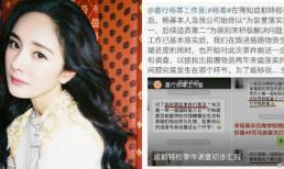 Dương Mịch tung bằng chứng minh oan vụ quỵt tiền từ thiện
