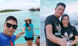 Sau tin đồn tình cảm với Trương Quỳnh Anh, Bình Minh hạnh phúc nắm tay bà xã 'đi khắp thế gian'