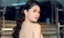 Á hậu Thuỳ Dung khoe lưng trần nuột nà, đeo trang sức hơn 200 triệu đồng dự sự kiện