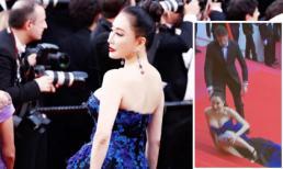 Nữ diễn viên vô danh Trung Quốc bị 'ném đá' vì cố tình ngã để gây sự chú ý trên thảm đỏ LHP Cannes