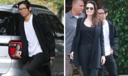 Pax Thiên đeo kính như thư sinh đi ăn cùng Angelina Jolie nhân dịp 'Ngày của mẹ'