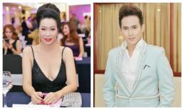 Trịnh Kim Chi diện đầm khoét sâu khoe vòng một quyến rũ, Nguyễn Vũ lịch lãm với vest xanh kết ngọc trai