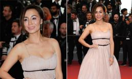 Mỹ nhân gốc Việt Maggie Q lộ gương mặt sưng phù, khác lạ tại LHP Cannes