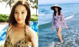 Hoa hậu Hong Kong - Ông Gia Tuệ tận hưởng kì nghỉ ở Đà Nẵng