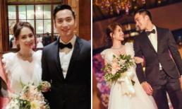 Hình ảnh lãng mạn trong hôn lễ của Chung Hân Đồng và bác sĩ kém tuổi tại Mỹ