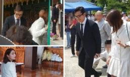 Lộ hình ảnh hiếm Lee Byung Hun cùng vợ và con trai lên chùa cầu an