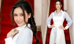 Trương Quỳnh Anh diện váy xẻ tà độc đáo trong sự kiện