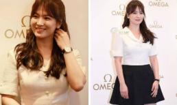 Song Hye Kyo 'hô biến' tóc ngắn thành tóc dài, diện cây đen trắng đẹp 'không góc chết'
