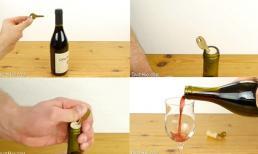 Cách mở nắp chai rượu vang chỉ với một chiếc chìa khóa
