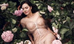 Quán quân Sao Mai Lương Nguyệt Anh như nàng công chúa giữa vườn hoa cẩm tú cầu