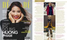 Phạm Hương tươi như hoa trên bìa tạp chí danh giá của Pháp - Dé Modé
