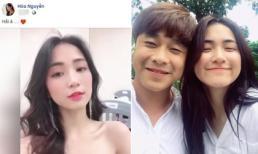 Chẳng 'úp mở' như thời yêu Công Phượng, Hòa Minzy giờ thoải mái gọi tên anh yêu trên Facebook