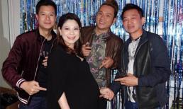 'Bà bầu' Thanh Thảo vui hết mình trong tiệc sinh nhật MC Kỳ Duyên